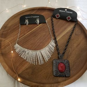 statement earrings and necklace sets